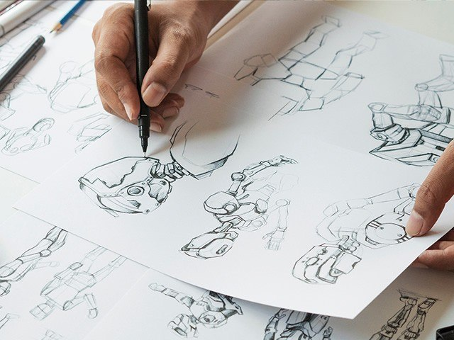 Corquis personnage d'animation: école MoPa