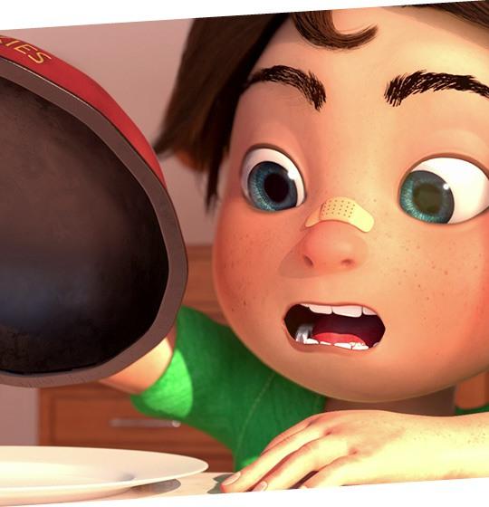 Personnage film d'animation 3D: école MoPa
