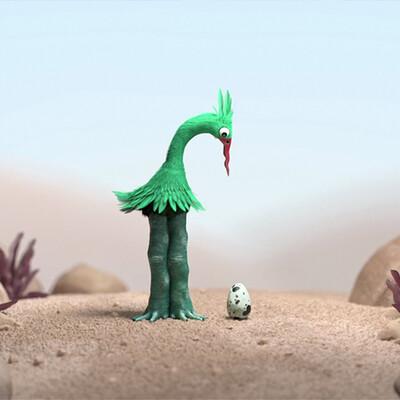 Film d'animation 3D MoPA - The Green Bird